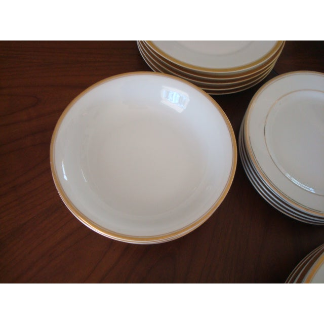 Gold And White Bavaria Dishes - Set of 30 - Image 8 of 11