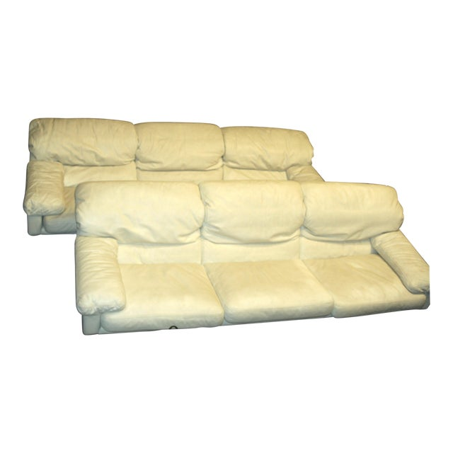 Tremendous Marco Zani Italian White Leather Sofa Set Caraccident5 Cool Chair Designs And Ideas Caraccident5Info