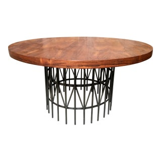 Milo Baughman for Thayer Coggin Rosewood & Bronze Centre Table For Sale