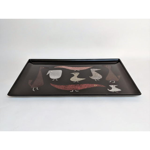 """The Couroc Company Couroc of Monterey """"Mod Birds"""" Serving Tray For Sale - Image 4 of 11"""