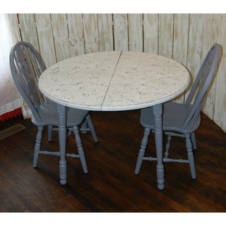 Gray and White Dining Set - Set of 3 Preview