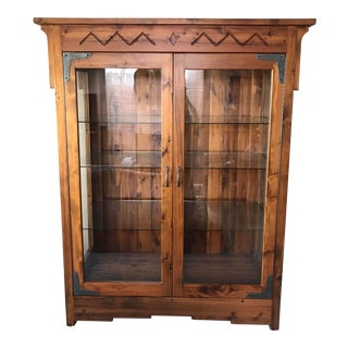 Custom Solid Walnut Curio Cabinet For Sale