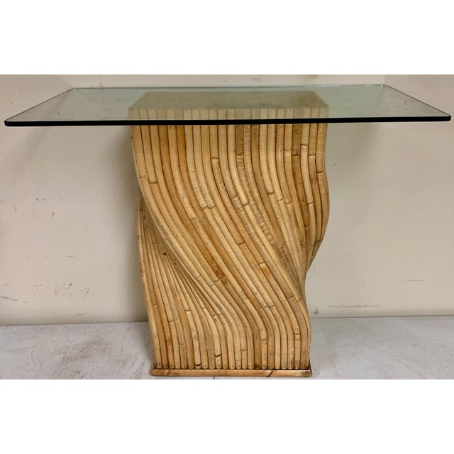 Mid 20th Century Pair of Pencil Bamboo Modern Console Tables Att. To Crespi For Sale - Image 5 of 10