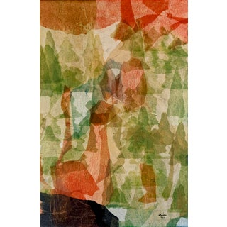 Mid-Century Mixed Media Abstract Painting For Sale