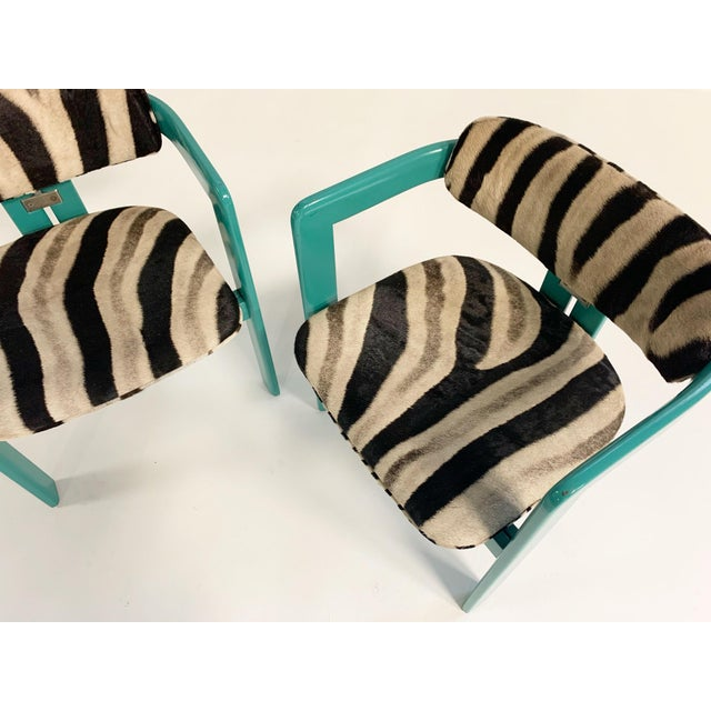 Augusto Savini for Pozzi 'Pamplona' Dining Chairs in Zebra - Set of 8 For Sale In Saint Louis - Image 6 of 10