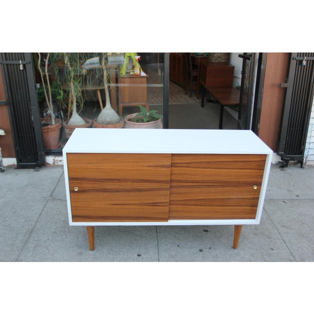 While Lacquered Credenza For Sale - Image 10 of 13