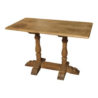 A French Oak Bistro or Restaurant Table, Mid 1900s For Sale