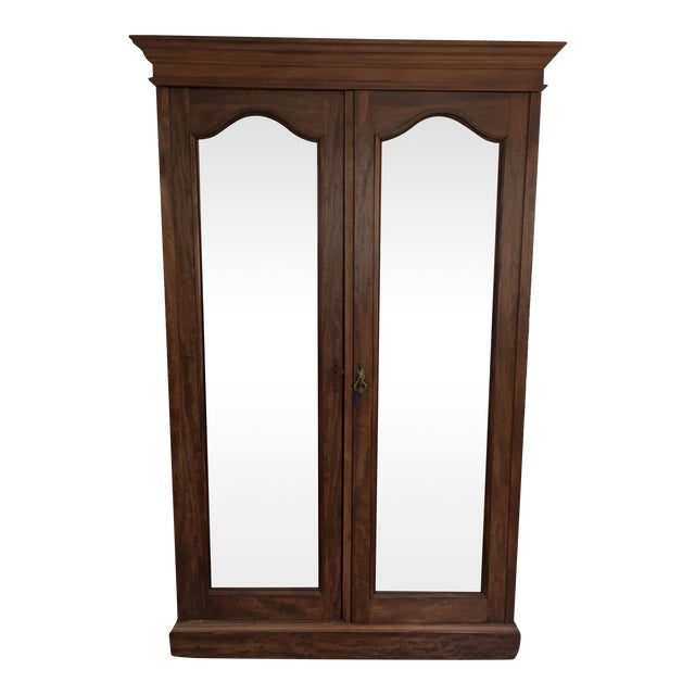 Solid Wood Armoire With Antiques Mirrors - Image 1 of 5