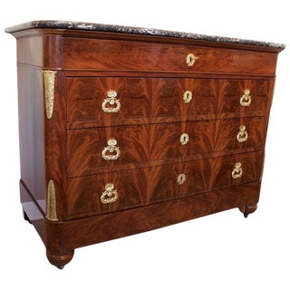 Early 19th Century Antique French Louis XVII Period Chest For Sale