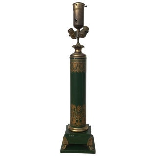 1920s French Empire Style Tole Lamp For Sale