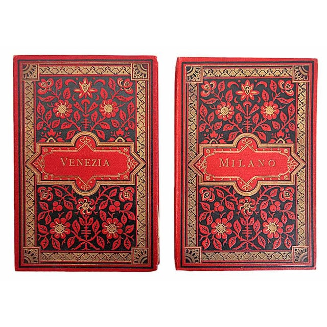 Vintage Italian Red Postcard Books - A Pair - Image 1 of 10