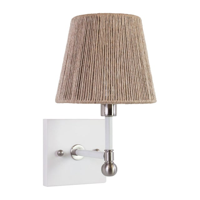 Boho Chic Piper Wall Sconce - Nickel For Sale - Image 3 of 3