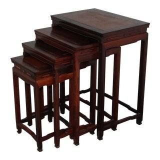 Vintage Stackable Chinese Tables- 4 Pieces For Sale