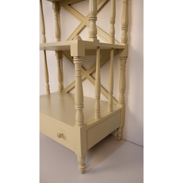 Regency Style Painted 5-Tier Etagere For Sale - Image 5 of 6