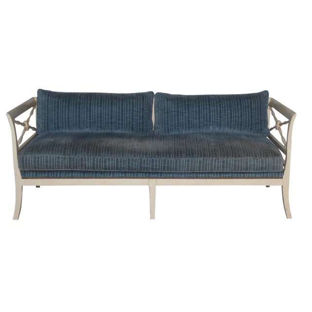 Gray Velvet Loveseat - Image 1 of 3