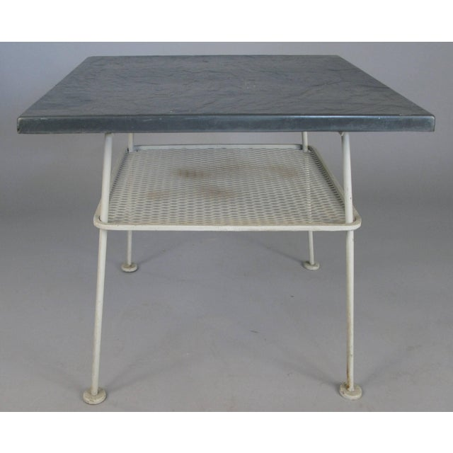 Industrial Vintage 1950s Sculptura Wrought Iron Table by Russell Woodard For Sale - Image 3 of 8