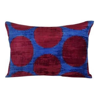 Silk Velvet Lumbar Pillow For Sale