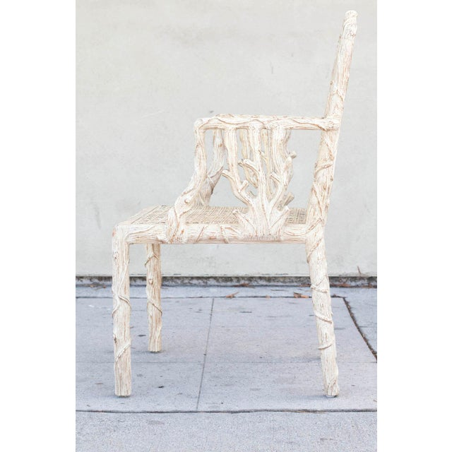 Decorative Branch Faux-Bois Chairs - Set of 4 - Image 7 of 10