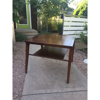 1950s Mid-Century Modern Drexel Profile Walnut Corner Table Preview