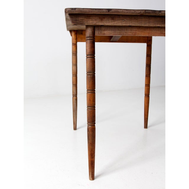 Antique Wooden Folding Table For Sale - Image 6 of 12 - Antique Wooden Folding Table Chairish