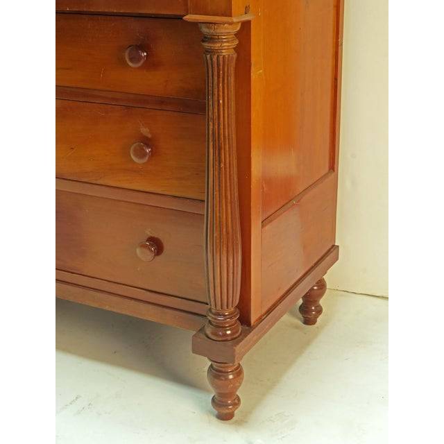 Mid 19th Century Mid 19th century American Federal Chest Dresser For Sale - Image 5 of 5