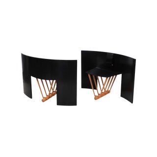 """Shield Back Chairs"" by Thomas Hucker - a Pair For Sale"