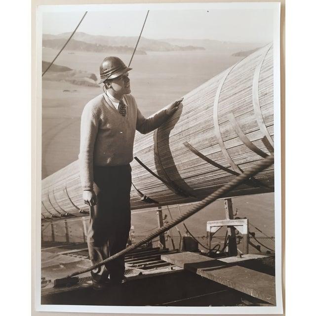 Vintage Photo Golden Gate Bridge Construction - Image 2 of 4