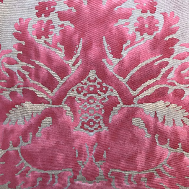Pink & Gray Fortuny Pillows - A Pair - Image 3 of 5