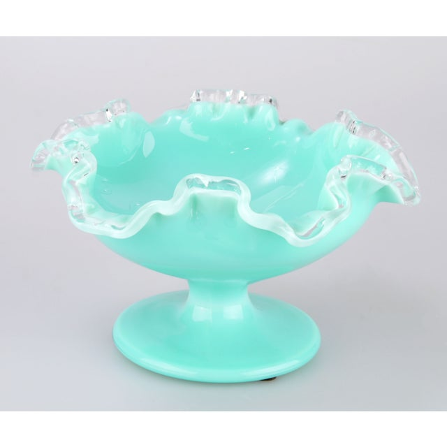 Turquoise Handblown Murano Candy Dish For Sale - Image 5 of 7