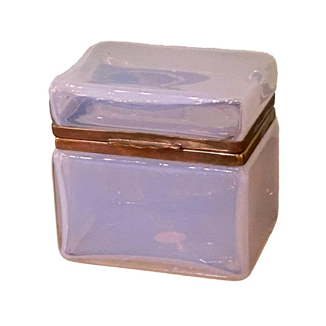 Mid-Century Modern Mid 20th Century Murano Clear White Box For Sale - Image 3 of 7