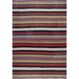 1980s Vintage Flatweave Persian Kilim Rug- 8′5″ × 11′10″ For Sale