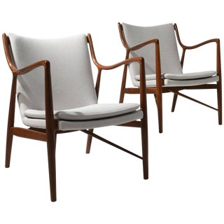 Finn Juhl Pair of Lounge Chairs, 1950s For Sale