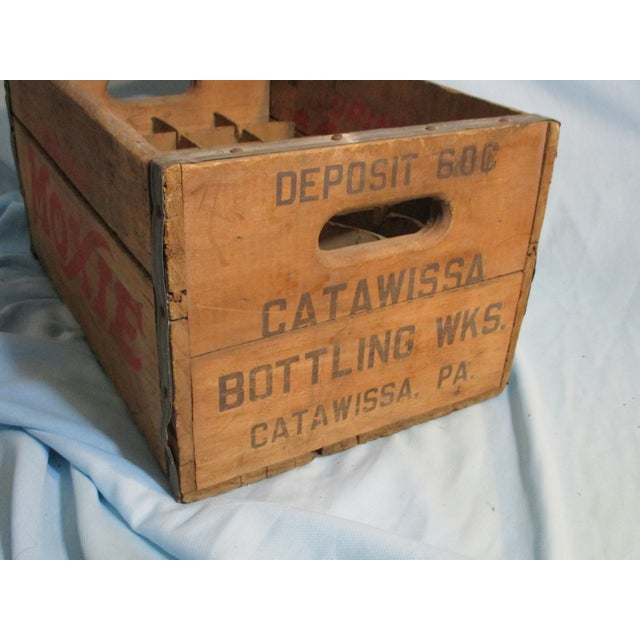 Primitive 1956 Moxie Drink Wood Crate Box For Sale - Image 3 of 10