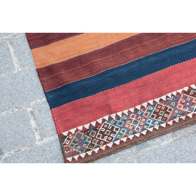 Fantastic Color Antique Turkish Malatya Kilim Rug - 6' 3'' x 3' 3'' - Image 6 of 10