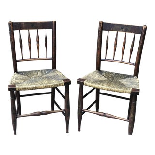 Late 19th Century Vintage Chairs - a Pair For Sale