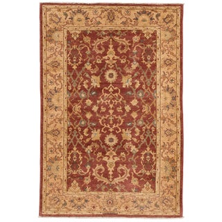 """Contemporary Indian Tabriz Rug, 4'0"""" X 6'0"""" For Sale"""