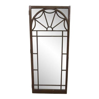 Arts & Crafts Arch Glass Cabinet Door For Sale