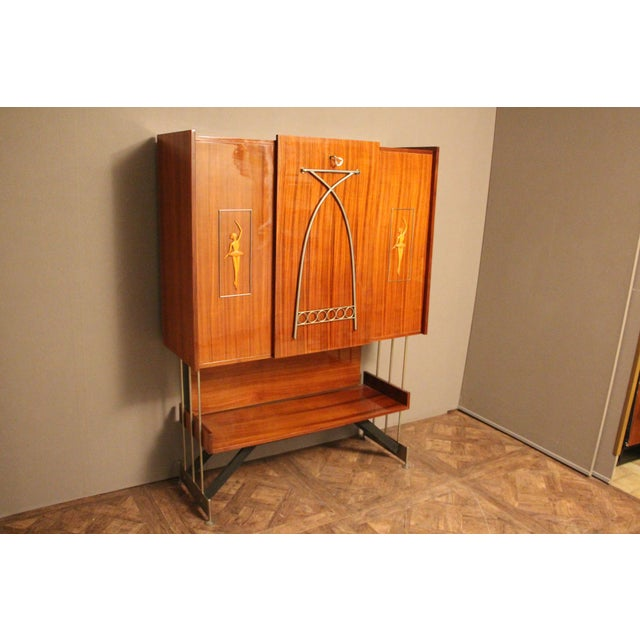 Mid Century Italian Dry Bar Cabinet,Drinks Cabinet, Cocktail Bar For Sale - Image 11 of 13
