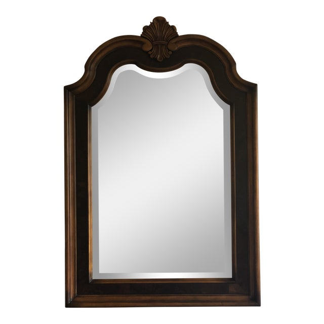 Traditional Arched Carved Wall Mirror For Sale