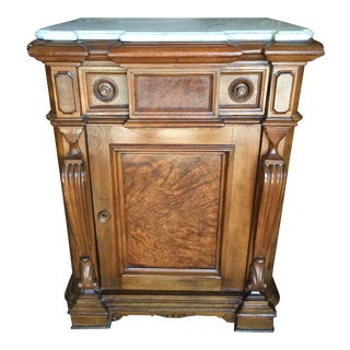Victorian Marble Nightstand Renaissance Revival For Sale