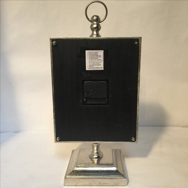 Large Silver Mantle Clock - Image 4 of 8