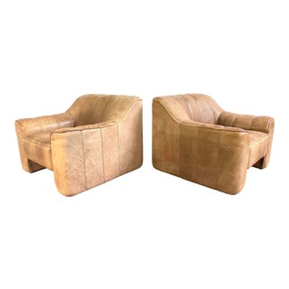 De Sede Leather Lounge Chairs Model Ds 44 - a Pair For Sale