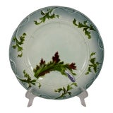 Image of French Faïence Barbotine Majolica Asparagus Plate For Sale