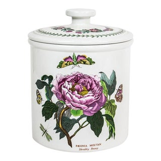 Portmeirion Paeonia Moutan Shrubby Peony Botanic Garden Cookie Jars - a Pair For Sale