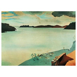 "1957 Salvador Dalí ""Paysage De Port-Lligat"" Large Period Lithograph For Sale"
