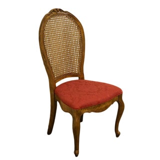 Late 20th Century Vintage Bernhardt / Hibriten Furniture Cane Back Dining Side Chair For Sale