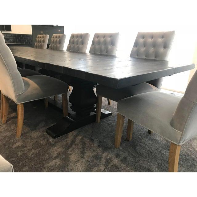 Restoration Hardware Table & Bennett Roll-Back Light Wood