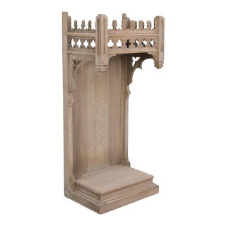 Antique Neo-Gothic French Oak Pedestal For Sale
