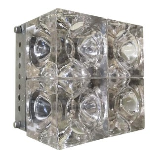 Mid 20th Century Cube Sconce / Flush Mount by Poliarte For Sale