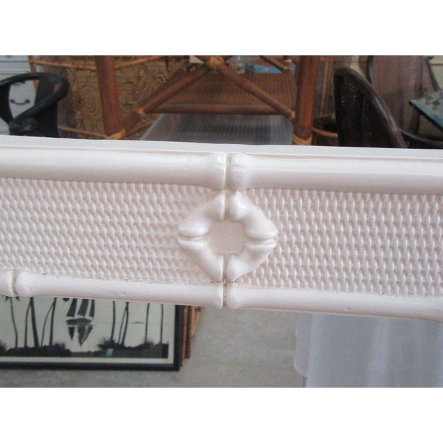 Regency Palm Beach White Faux Bamboo Mirrors - a Pair For Sale - Image 3 of 4